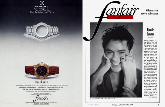Article Preview: Upside Downey, August 1990 1990   Vanity Fair
