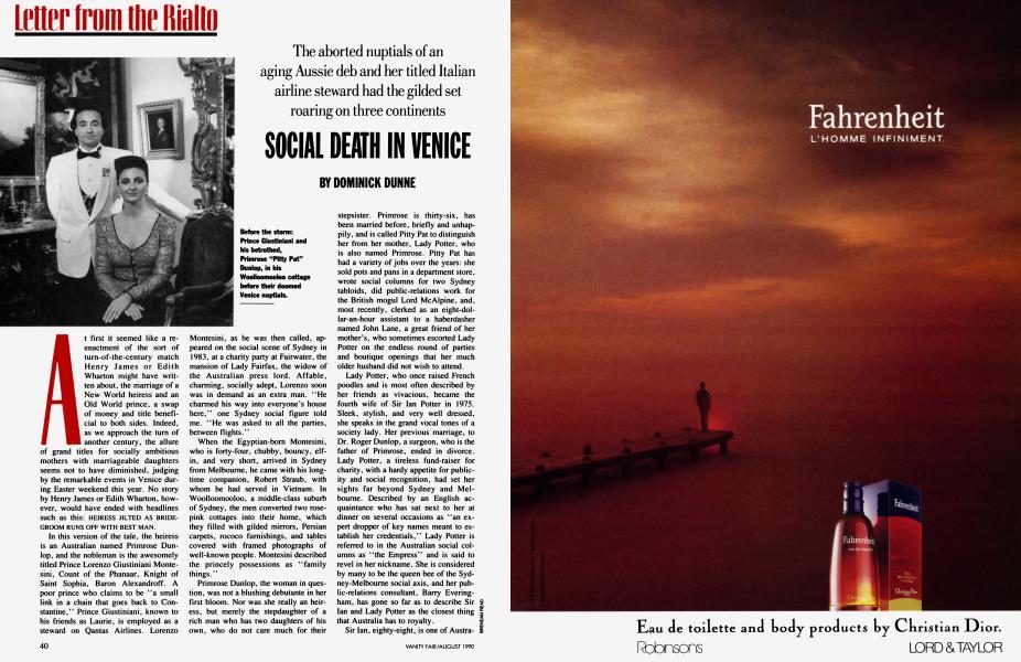 SOCIAL DEATH IN VENICE