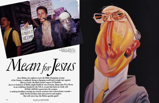 Article Preview: Mean for Jesus, September 1990 | Vanity Fair