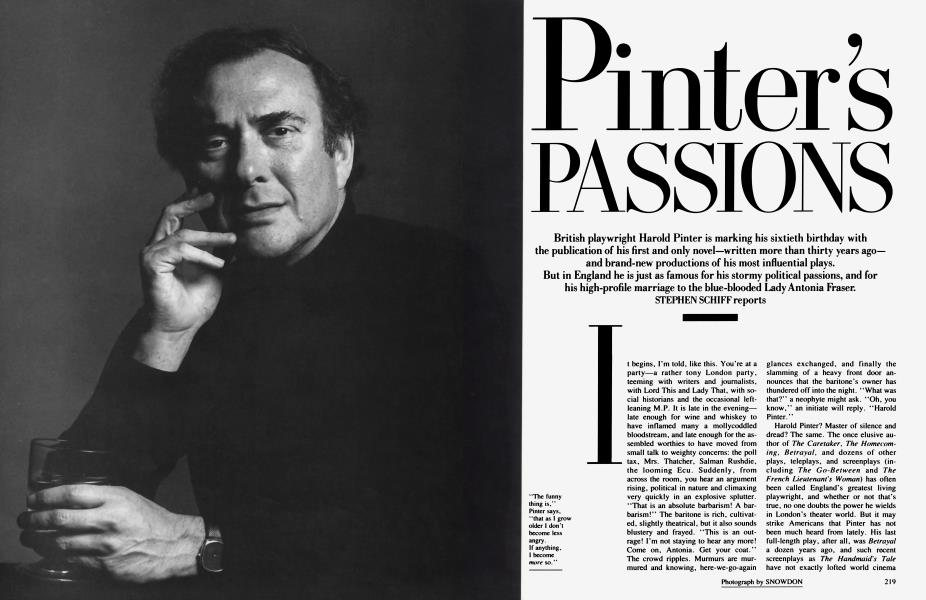 Pinter's PASSIONS