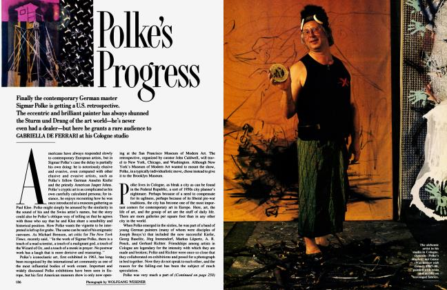 Article Preview: Polke's Progress, November 1990 1990 | Vanity Fair