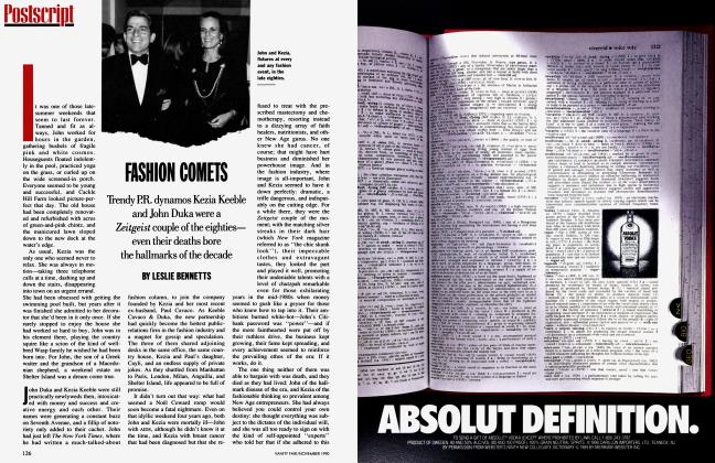 Article Preview: FASHION COMETS, November 1990 1990 | Vanity Fair