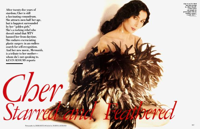 Article Preview: Cher Starred and Feathered, November 1990 | Vanity Fair