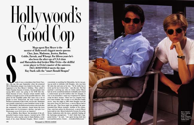 Article Preview: Hollywood's Good Cop, December 1990 | Vanity Fair