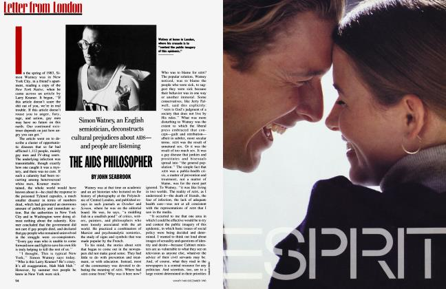 Article Preview: THE AIDS PHILOSOPHER, December 1990 | Vanity Fair