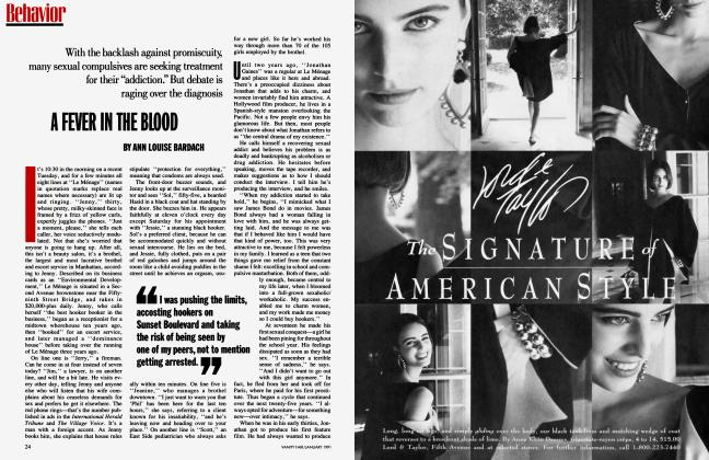 Article Preview: A FEVER IN THE BLOOD, January 1991 1991 | Vanity Fair