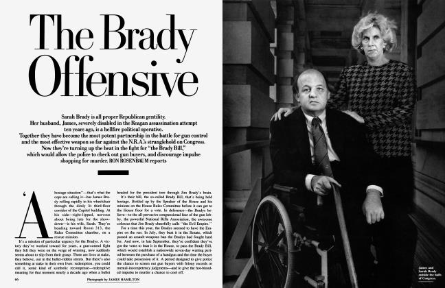 Article Preview: The Brady Offensive, January 1991 | Vanity Fair