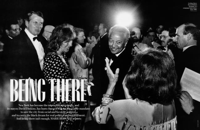 Article Preview: BEING THERE, January 1991 1991 | Vanity Fair