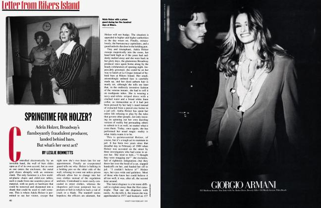 Article Preview: SPRINGTIME FOR HOLZER?, February 1991 1991 | Vanity Fair
