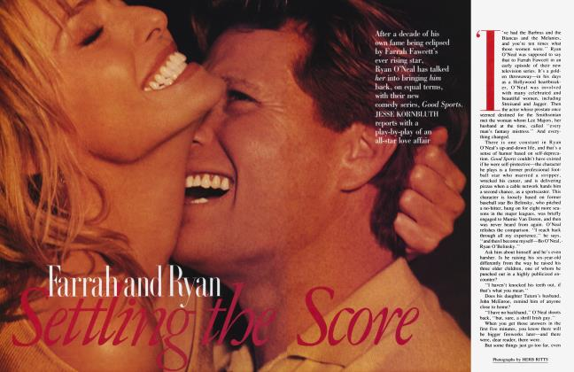 Article Preview: Farrah and Ryan Settling the Score, February 1991 1991 | Vanity Fair