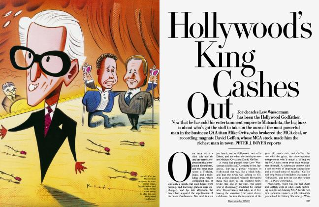 Article Preview: Hollywood's King Cashes Out, February 1991 | Vanity Fair