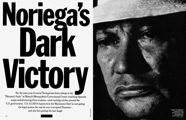 Article Preview: Noriega's Dark Victory, February 1991 | Vanity Fair