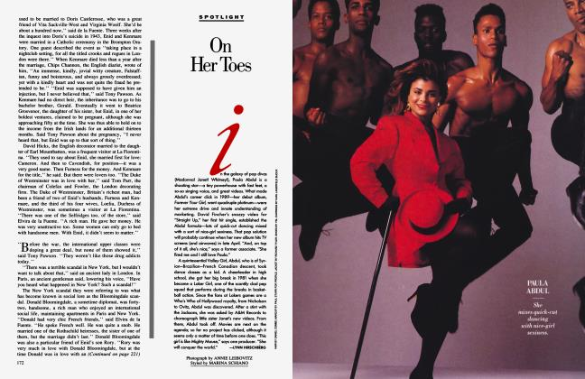 Article Preview: On Her Toes, March 1991 1991 | Vanity Fair