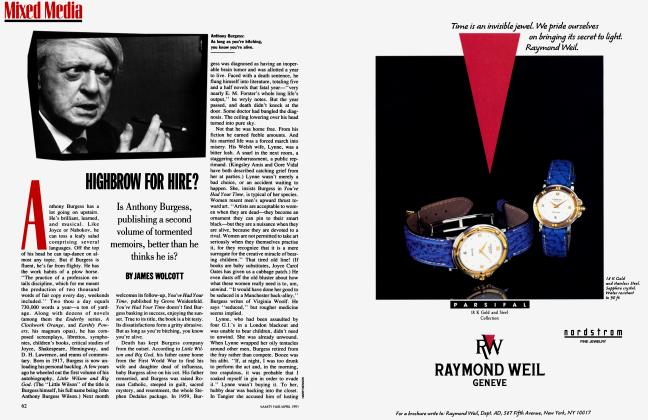 Article Preview: HIGHBROW FOR HIRE?, April 1991 1991 | Vanity Fair