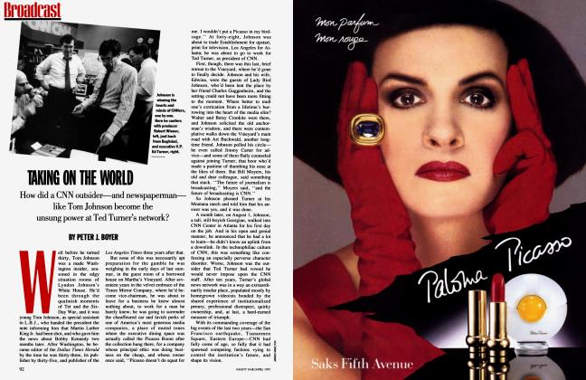 Article Preview: TAKING ON THE WORLD, April 1991 1991 | Vanity Fair