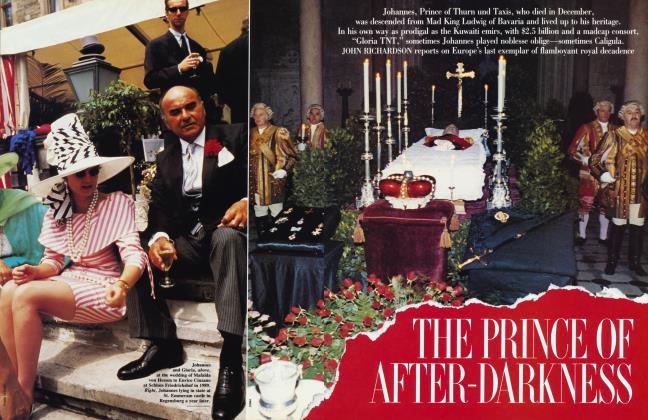 Article Preview: THE PRINCE OF AFTER-DARKNESS, May 1991 1991 | Vanity Fair