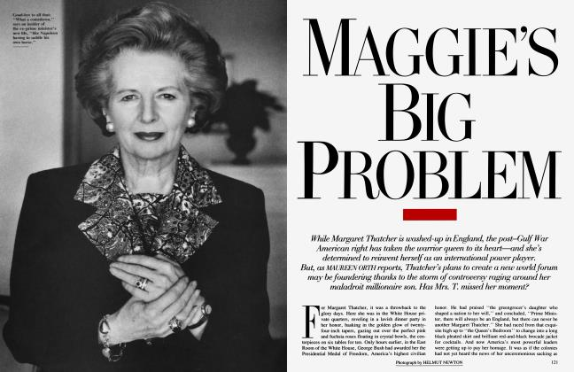 Article Preview: MAGGIE'S BIG PROBLEM, June 1991 | Vanity Fair