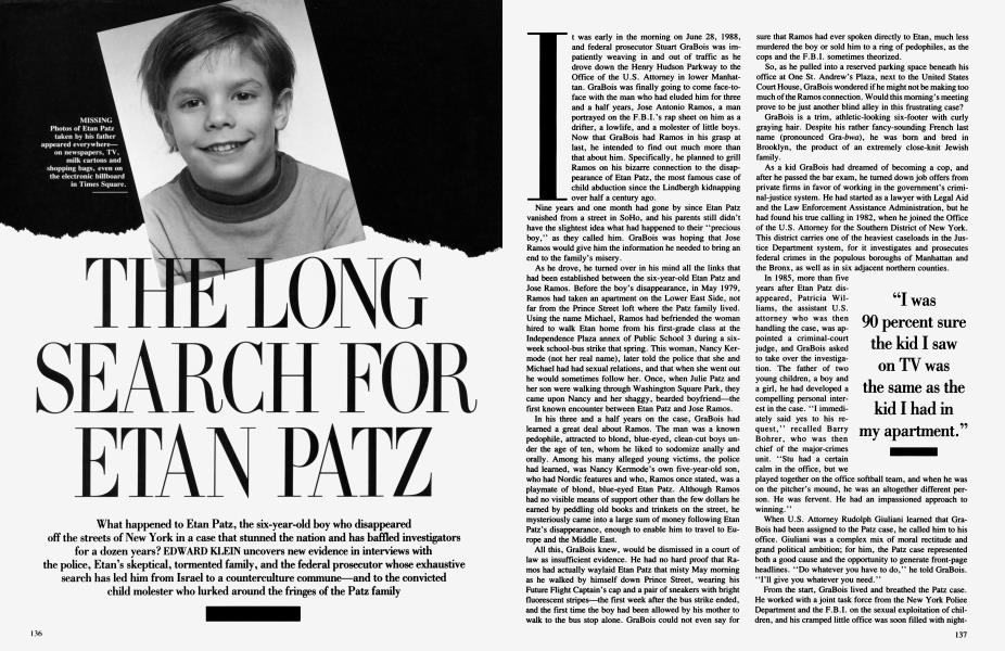 THE LONG SEARCH FOR ETAN PATZ