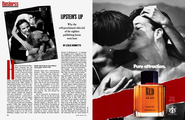 Article Preview: LIPSTEIN'S LIP, July 1991 1991 | Vanity Fair