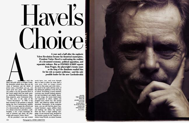 Article Preview: Havel's Choice, August 1991 | Vanity Fair
