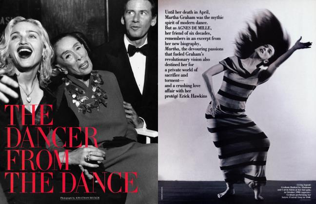 Article Preview: THE DANCER FROM THE DANCE, August 1991 | Vanity Fair