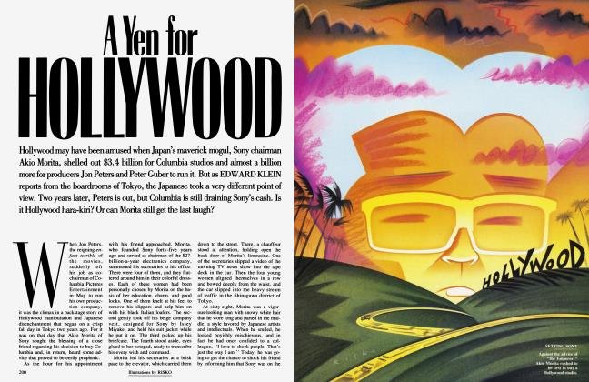 Article Preview: A Yen for HOLLYWOOD, September 1991 1991 | Vanity Fair