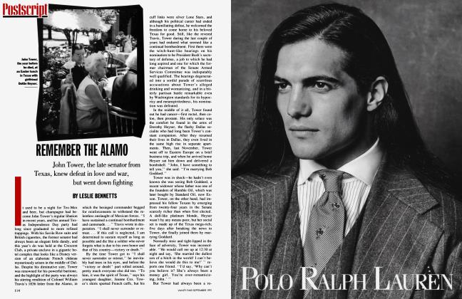 Article Preview: REMEMBER THE ALAMO, September 1991 1991 | Vanity Fair