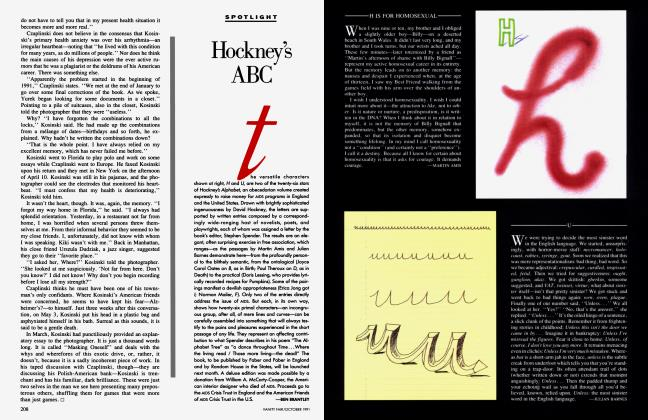 Article Preview: Hockney's ABC, October 1991 1991 | Vanity Fair