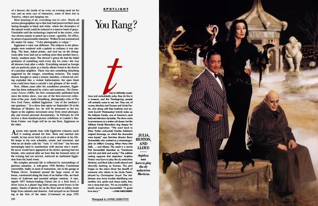 Article Preview: You Rang?, October 1991 1991   Vanity Fair
