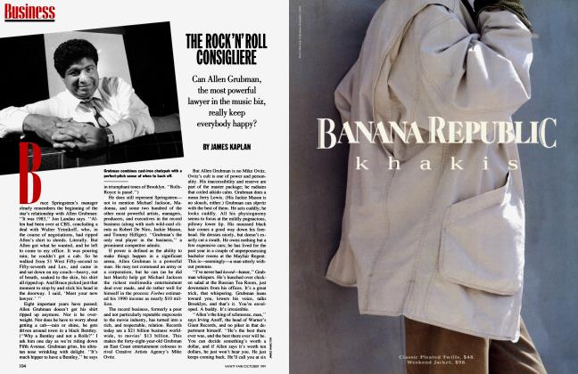Article Preview: THE ROCK'N'ROLL CONSIGUERE, October 1991 1991 | Vanity Fair