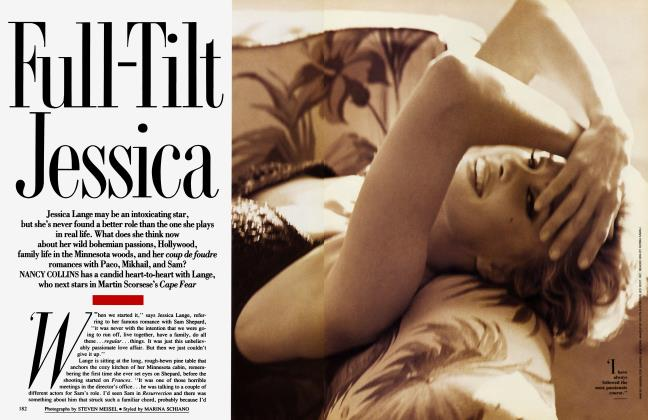 Article Preview: Full-Tilt Jessica, October 1991 1991 | Vanity Fair