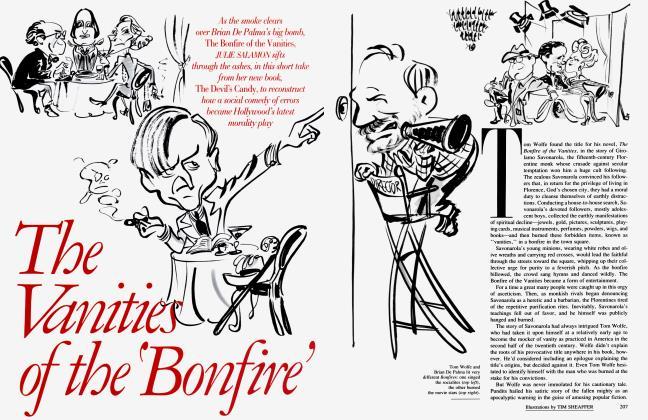 Article Preview: The Vanities of the 'Bonfire', November 1991 1991   Vanity Fair