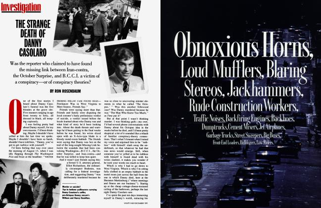 Article Preview: THE STRANGE DEATH OF DANNY CASOLARO, December 1991   Vanity Fair