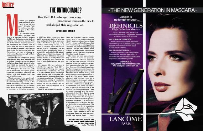 Article Preview: THE UNTOUCHABLE?, January 1992 | Vanity Fair
