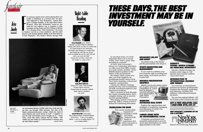 Article Preview: Très joely, January 1992 1992 | Vanity Fair