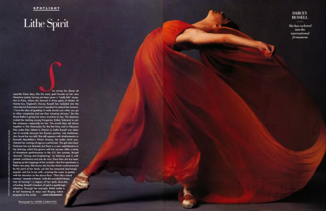 Article Preview: Lithe Spirit, January 1992 1992   Vanity Fair