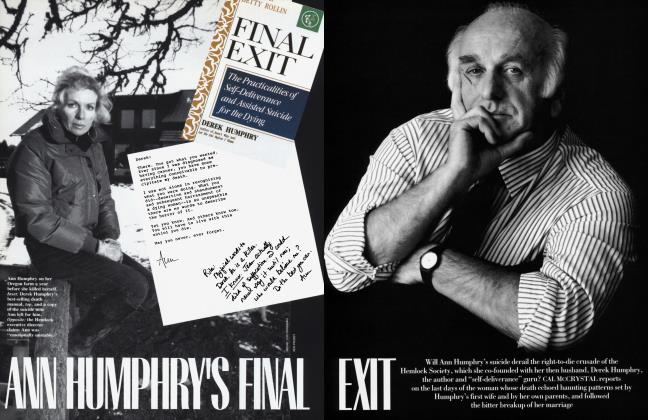 Article Preview: ANN HUMPHRRY'S FINAL EXIT, January 1992 | Vanity Fair