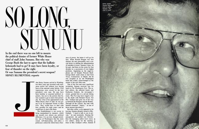 Article Preview: SO LONG, SUNUNU, February 1992 | Vanity Fair