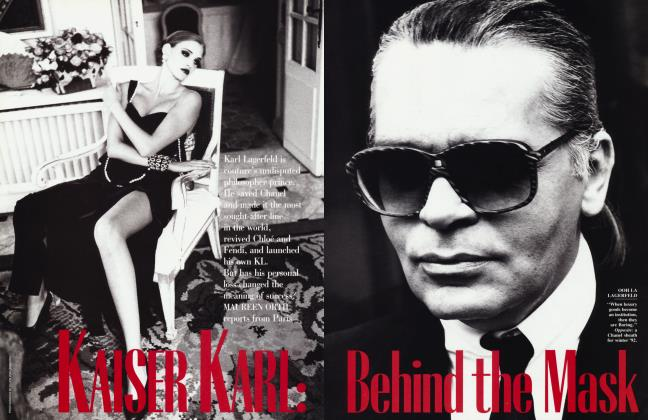 Article Preview: KAISER KARL: Behind the Mask, February 1992 1992 | Vanity Fair