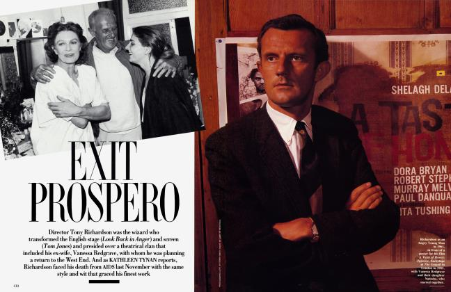 Article Preview: EXIT PROSPERO, February 1992 1992 | Vanity Fair