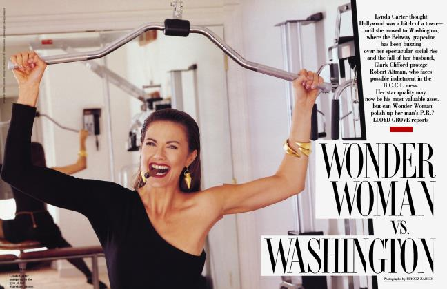 Article Preview: WONDER WOMAN vs. WASHINGTON, February 1992 1992 | Vanity Fair