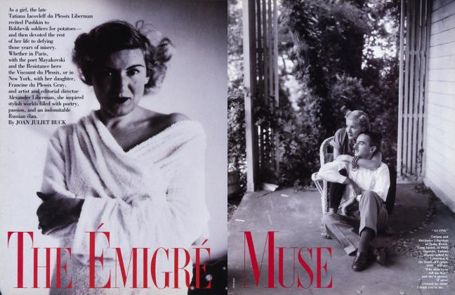 Article Preview: THE ÉMIGRÉ MUSE, March 1992 | Vanity Fair