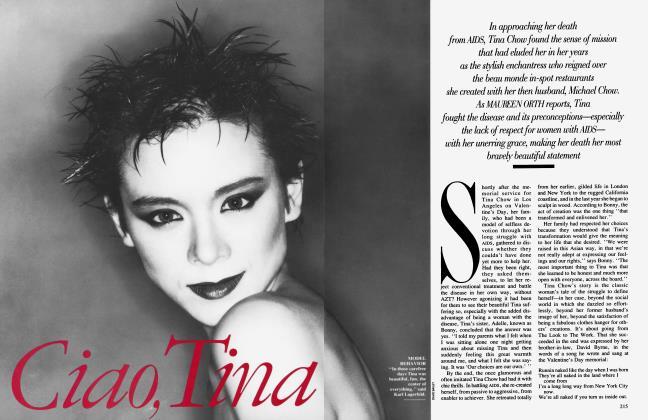 Article Preview: Ciao, Tina, April 1992 1992 | Vanity Fair