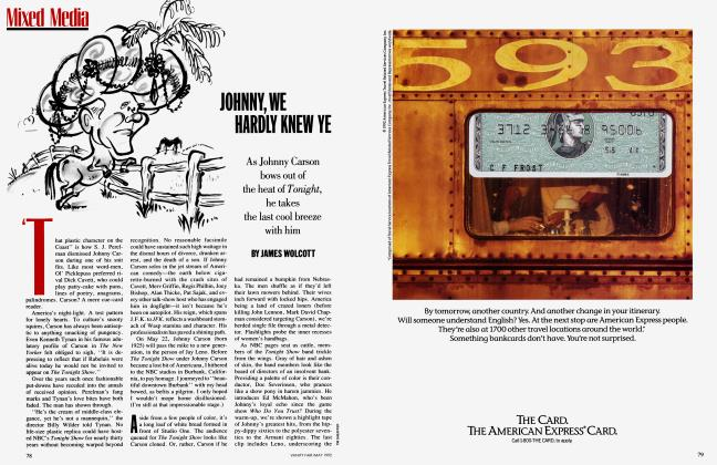 Article Preview: JOHNNY, WE HARDLY KNEW YE, MAY 1992 1992   Vanity Fair