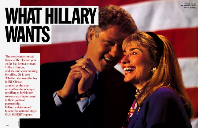 Article Preview: WHAT HILLARY WANTS, MAY 1992 1992 | Vanity Fair