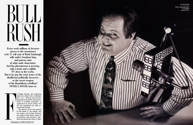 Article Preview: BULL RUSH, May 1992 | Vanity Fair