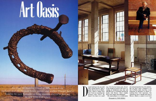Article Preview: Art Oasis, July 1992 1992 | Vanity Fair