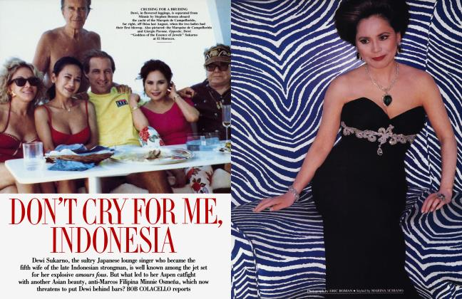 Article Preview: DON'T CRY FOR ME, INDONESIA, July 1992 1992 | Vanity Fair