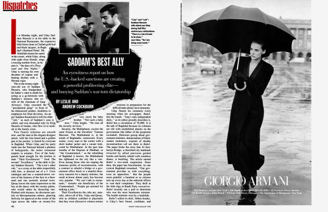 Article Preview: SADDAM'S BEST ALLY, August 1992 1992 | Vanity Fair