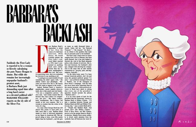 Article Preview: BARBARA'S BACKLASH, August 1992 1992 | Vanity Fair
